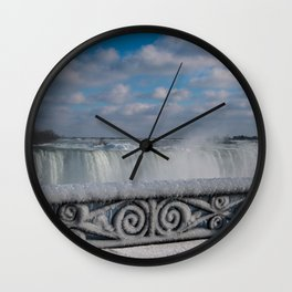 iced fencing - Niagara Wall Clock
