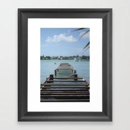 Turquoise Paradise Framed Art Print
