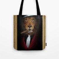 the godfather Tote Bags featuring the godfather by Natasha79