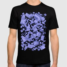 Retro Gamer - Blue Mens Fitted Tee MEDIUM Black