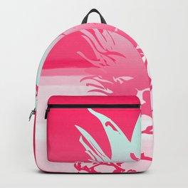 Pink Pineapple Tropical Beach Design Backpack