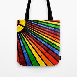 Rainbow Rays Tote Bag