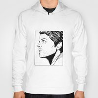 castiel Hoodies featuring castiel by angelcanvas