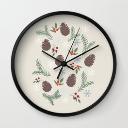 Winter pattern Wall Clock