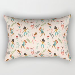 Central Park Zumba #illustration #pattern #womensday Rectangular Pillow