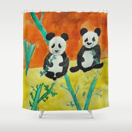 Pandas Shower Curtain