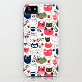 Lovely Cats Pattern for Cats Lovers. iPhone Case