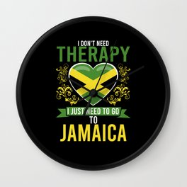 No Therapy just Jamaica Wall Clock