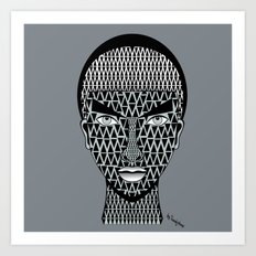 geometric geisha Art Print