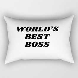 world's best boss Rectangular Pillow