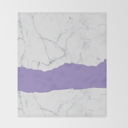 Elegant violet gray white modern marble pattern Throw Blanket