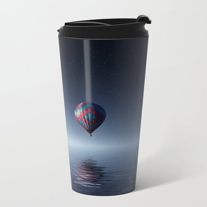 Hot Air Balloon Reflection Metal Travel Mug
