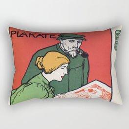 1896 Hoffman art printers Dresden Rectangular Pillow