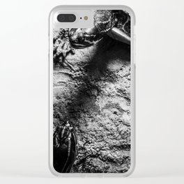 turtles - black and white Clear iPhone Case