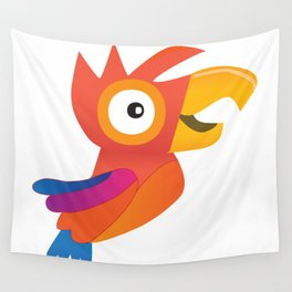 Cute parrot Wall Tapestry