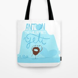 Anton, the Valentine´s Yeti Tote Bag
