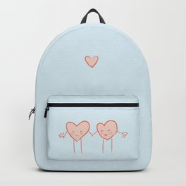 Two hearts in love Backpack