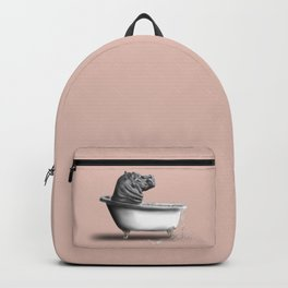Hippo in Bath Backpack