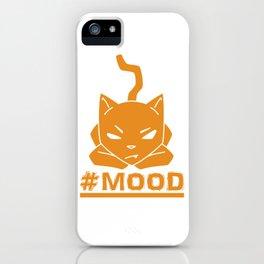 #MOOD Cat Orange iPhone Case