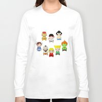 street fighter Long Sleeve T-shirts featuring A Boy - Street fighter by Christophe Chiozzi