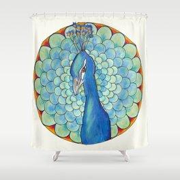 Peacock Mandala Shower Curtain