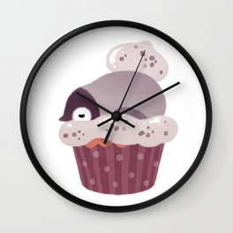 Cookie & cream & penguin Wall Clock