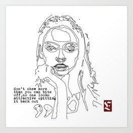 Swallow your ego Art Print