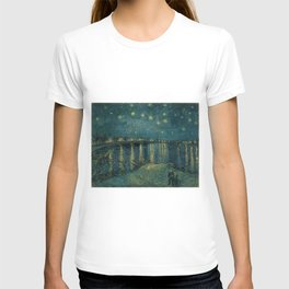 The starry night over the Rhône, 1888, Vincent van Gogh, Musée d'Orsay, Paris. T-shirt