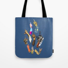 Artists Middle Fingers Tote Bag