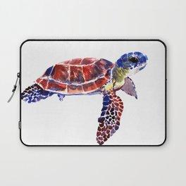 Sea Turtle Children Illustration, kids wall art Laptop Sleeve
