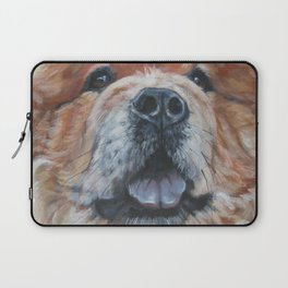 the chow chow dog portrait fine Art Dog Painting from an original painting by L.A.Shepard Laptop Sleeve