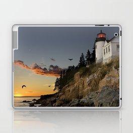 Bass Harbor Head Lighthouse Acadia National Park Laptop & iPad Skin