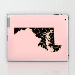 Maryland map Laptop & iPad Skin