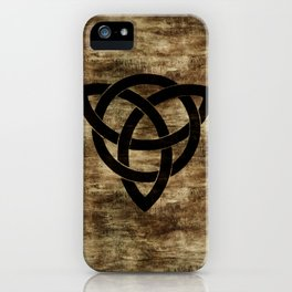 Wooden Celtic Knot iPhone Case