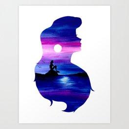 Ariel Double Exposure Art Print