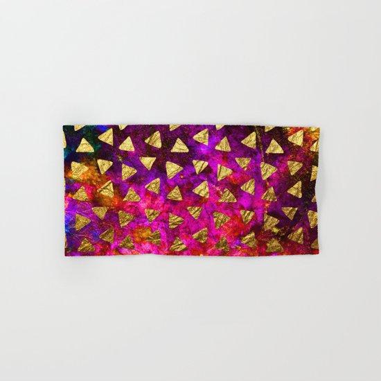 Triangles golden foil Hand & Bath Towel