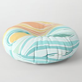 Sea and Sky II / Abstract Landscape Floor Pillow