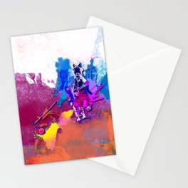 polo abstract red blue Stationery Cards