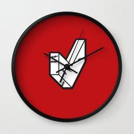 Box-Shaped-Heart Wall Clock