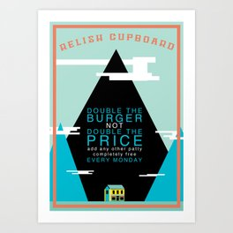 Double The Burger Art Print