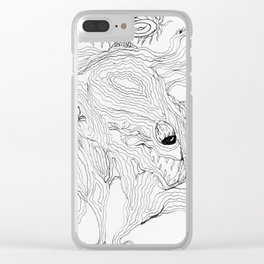Treading Lighly Clear iPhone Case