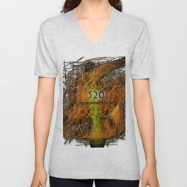 Numbers and Codes Unisex V-Neck