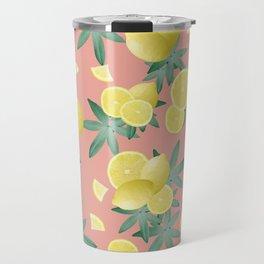 Lemon Twist Vibes #2 #tropical #fruit #decor #art #society6 Travel Mug