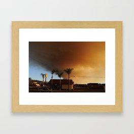 la puente burning Framed Art Print