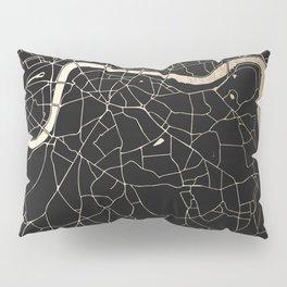 London Black on Gold Street Map II Pillow Sham