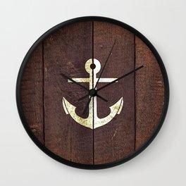 Anchor Wood Wall Clock