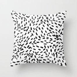Simple Black Strokes on White - Mix & Match Throw Pillow