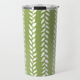 Sap Vines - nature spring leaves green pattern Travel Mug