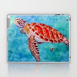 Sea turtle and friend Laptop & iPad Skin