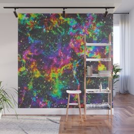 rainbow galaxy Wall Mural